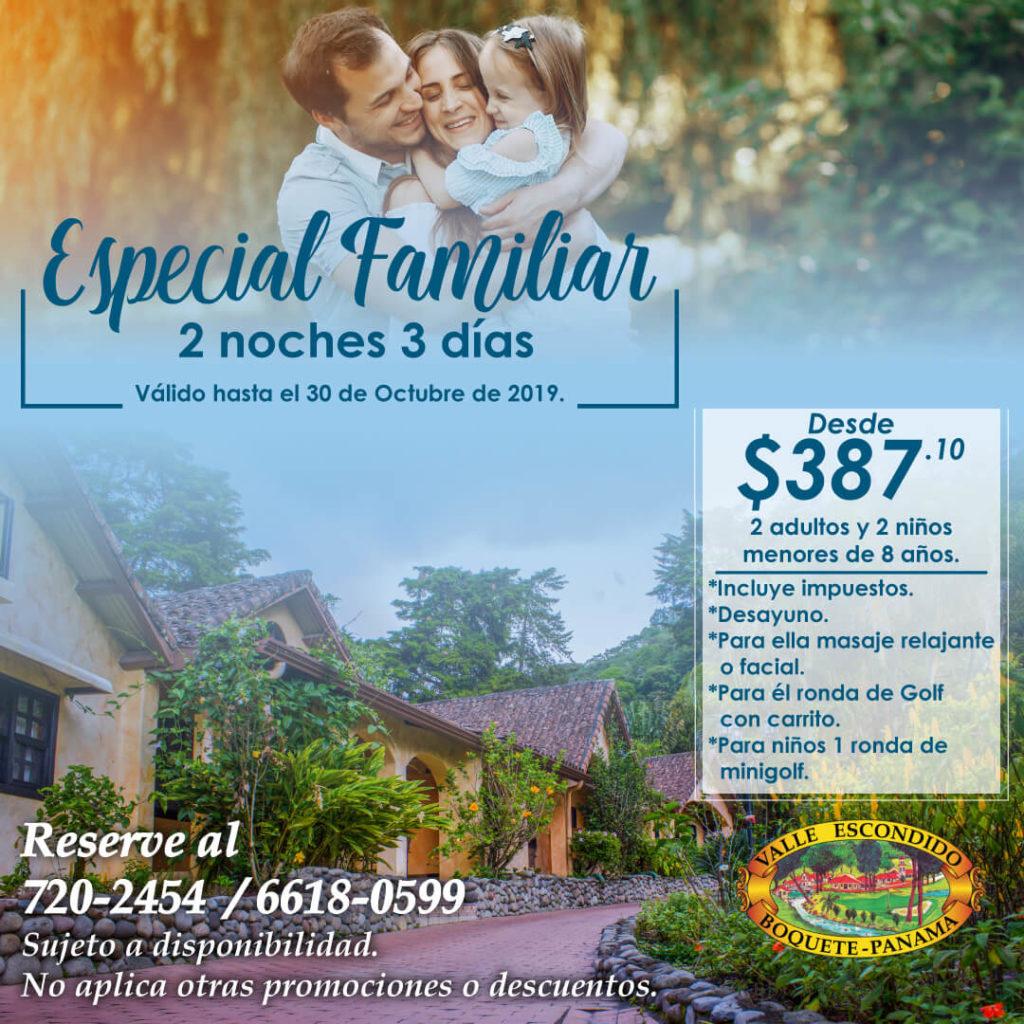 Promociones especiales de hospedaje en Boquete Chiriqui