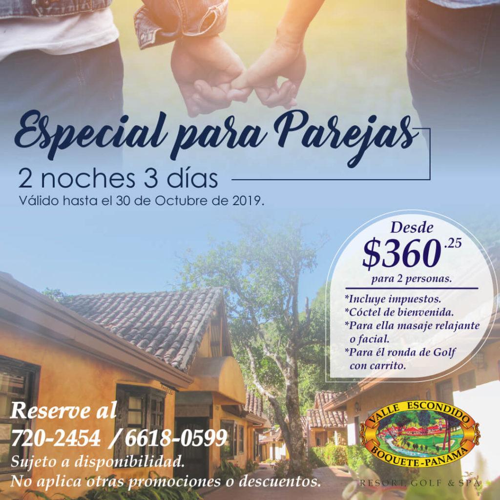 Hospedaje en Boquete Chiriqui para parejas